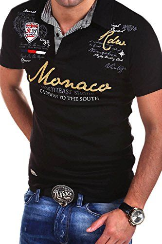 MT Styles Poloshirt MONACO T-Shirt R-2254 [Schwarz, 4XL]