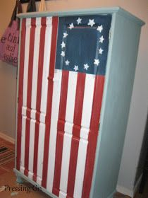 I've pinned on Pinterest and been inspired by all the beautiful Union Jack dressers, pillows and other items.  I really wanted to do some...