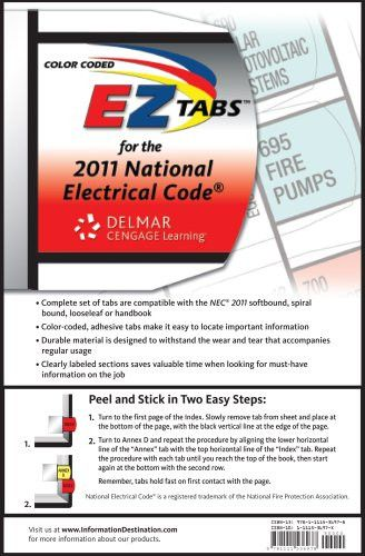 43 best codes standards books images on pinterest books online color coded ez tabs for the 2011 national electrical code fandeluxe Image collections