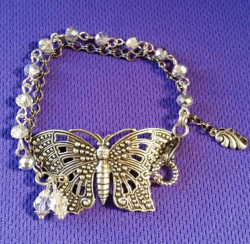 Check out this item in my Etsy shop https://www.etsy.com/au/listing/399257283/stunning-butterfly-and-crystal-cuff