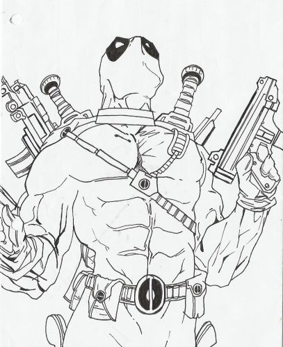 DEAD POOL DRAWING