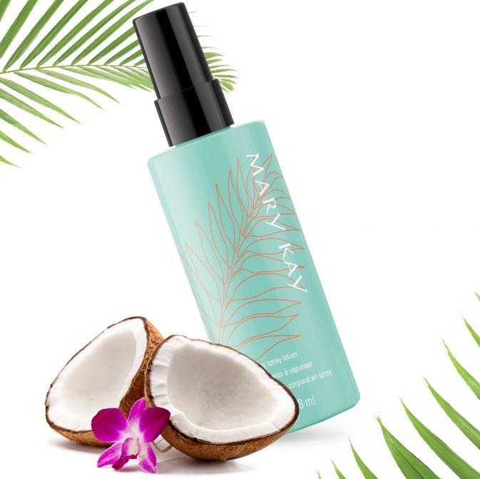 Refresca tu piel y tus sentidos con esta loción hidratante corporal con deliciosa fragancia a agua de coco... ¡Descubre en www.marykay.es la Loción Hidratante en Spray Mary Kay®!