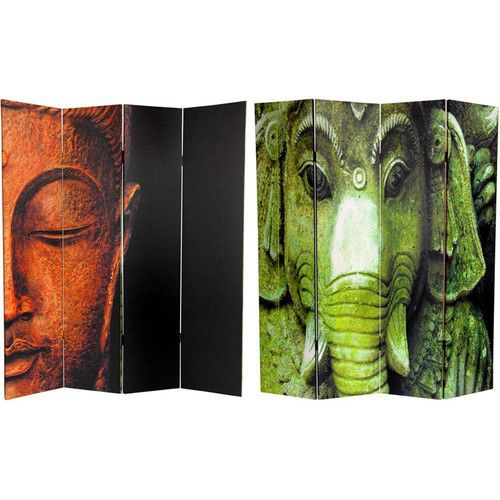 """Found it at Wayfair - 72"""" x 48"""" Double Sided Buddha / Ganesh 4 Panel Room Divider"""