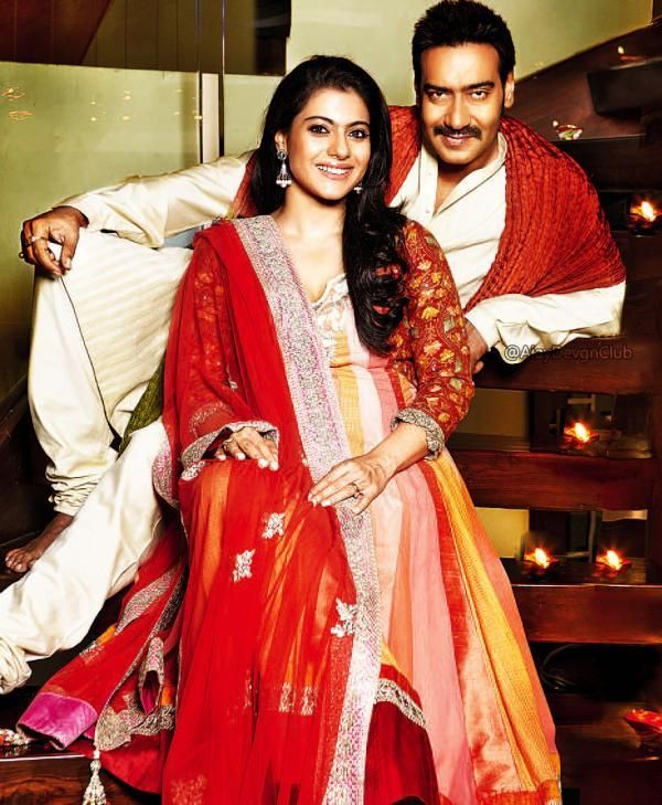 Kajol and Ajay's Diwali photo | PINKVILLA