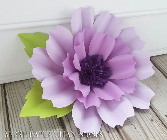 Paper Flower - Bouquet - Weddings - Photo Shoot - Wall Decor - Oversize Stemmed Flower - Customize