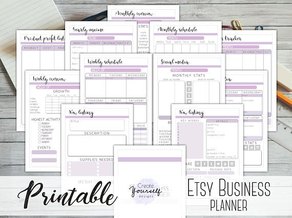 Start planning Your home business inorder to succeed! https://www.etsy.com/listing/568696740/etsy-business-planner-printable-small