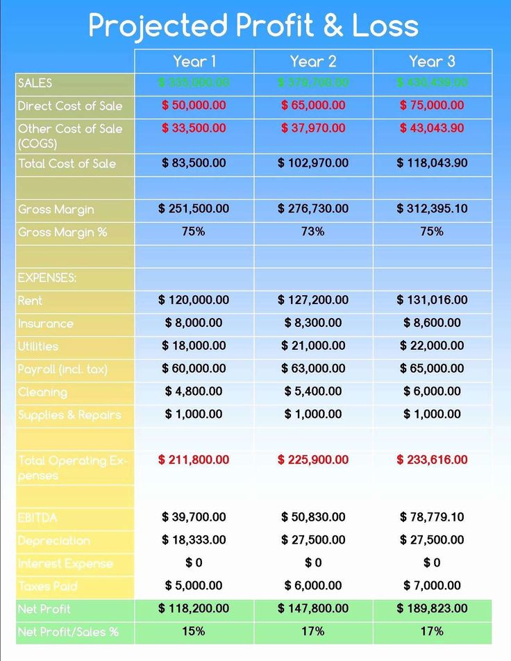 24 Business Plan Projection Template (With images