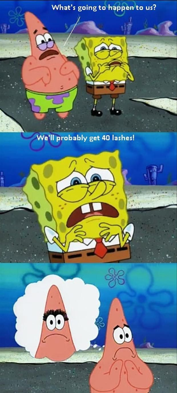 spongebob!! haha
