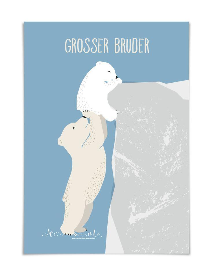 GROSSER BRUDER Poster DIN A3
