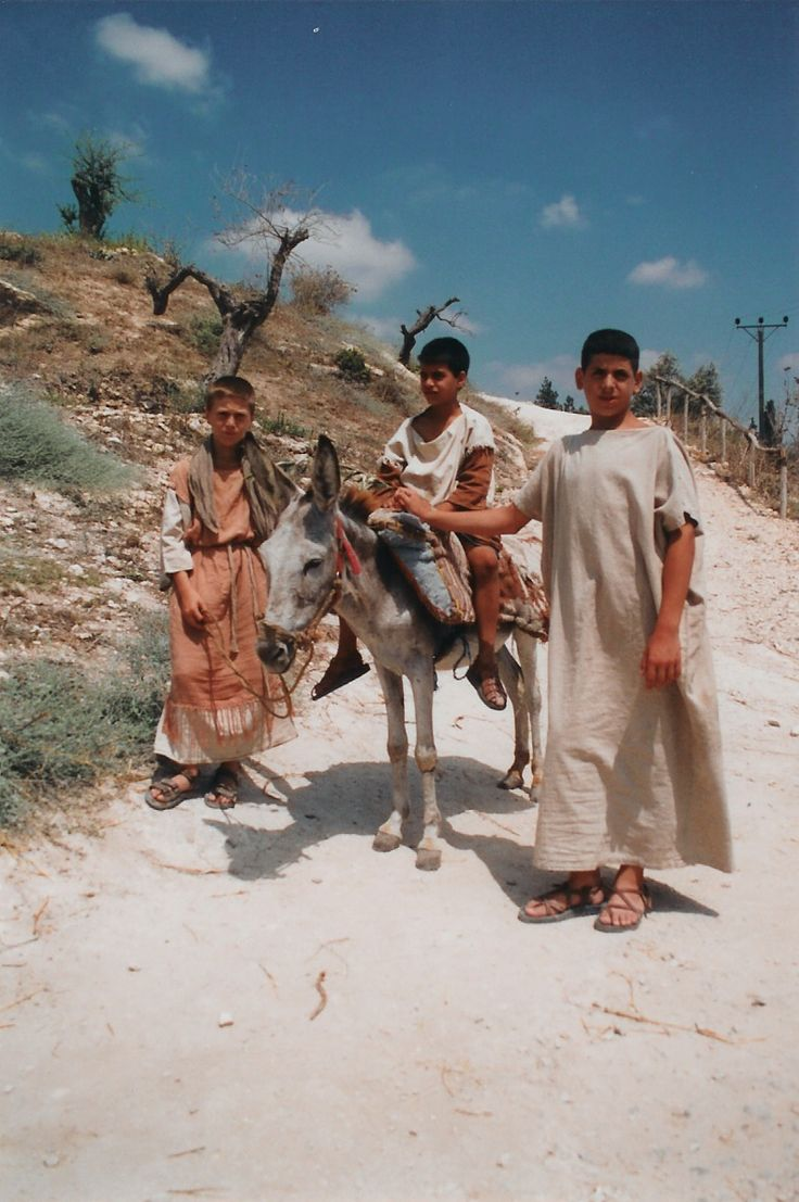 Nazareth Village Boys. Nazareth Village is an open air museum that reconstructs and reenacts village life in the Galilee in the time of Jesus. (V)