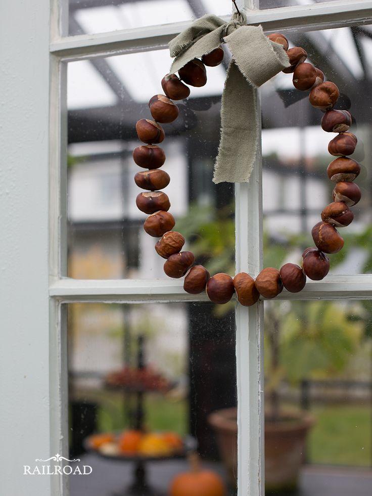 Höstkrans med kastanjer – RailRoad Home