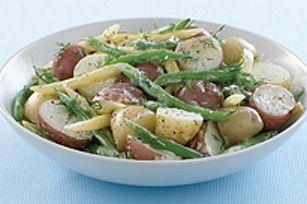 Salade de patates nouvelles et de haricots frais
