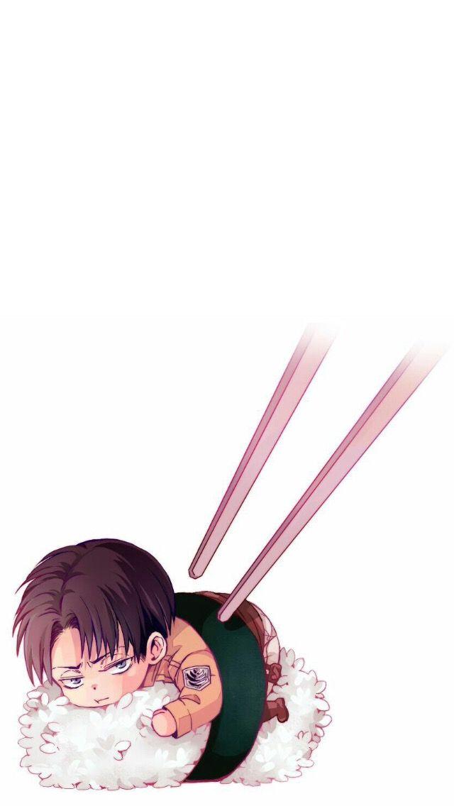 Attackontitan Shingekinokyojin Anime Leviackerman Levi Rivaille Kawaii Sushi Chibi Iphonewallpa Chibi Wallpaper Anime Wallpaper Phone Anime Wallpaper