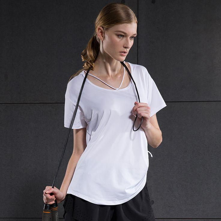 2017 New Demix Sports Blouses Women's Short Sleeved T-shirt Female Summer Loose Gym Running Fitness Yoga Shirt Long Section  #Affiliate