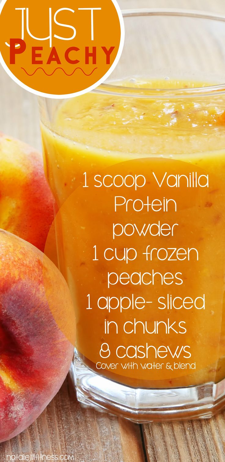 It's all peachy keen with this just peachy smoothie! Full of healthy nutrients and vitamins this is one of my faves!