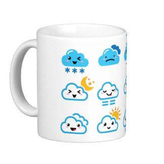 Cute cloud, Kawaii, Manga cup Basic White Mug