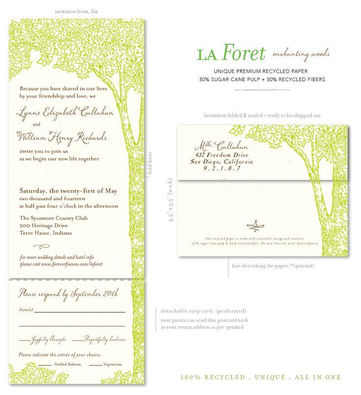La Foret (premium). Recycled WeddingTree Wedding InvitationsWedding ...