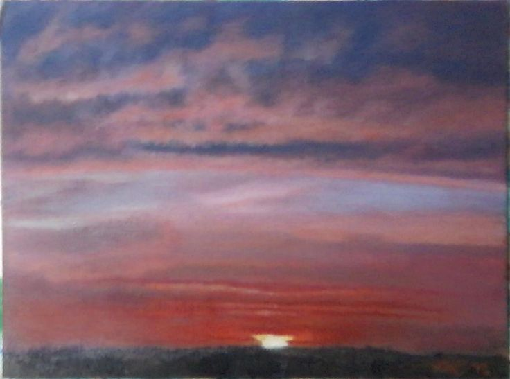 "A sunset for my wife :) ""New Beginnings"" 9x11"" oil"
