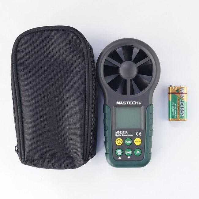 MASTECH MS6252A Digitale Anemometer Windgeschwindigkeit Messinstrument mit Bar Graph