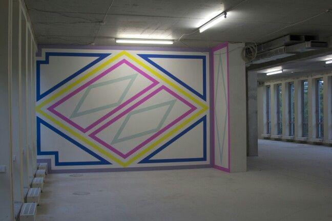 #MarijeVermeulen, Cuba Libre, #wallpainting, 2015, #abstract #art
