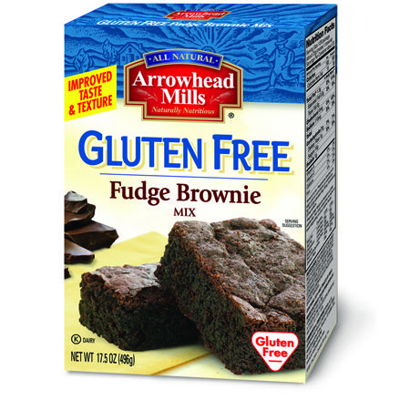 Chocolate lovers beware. With Arrowhead Mills Gluten Free Fudge Brownie Mix you can once again enjoy warm rich chocolate brownies.  Made with organic white rice flour, these brownies are a delectable wheat free treat.