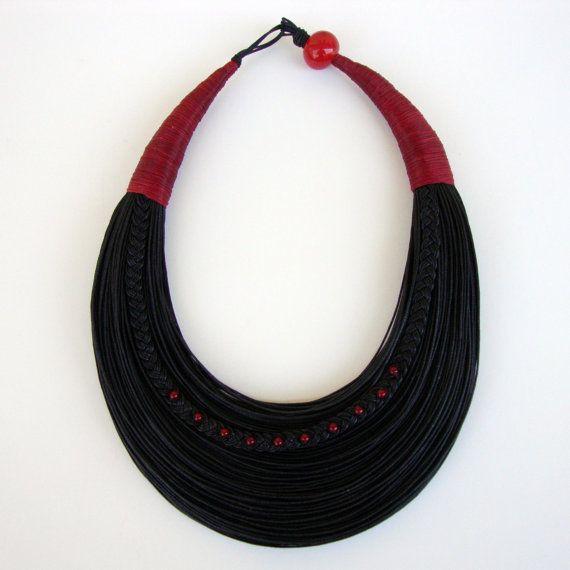 Déclaration fibre collier bijoux minimaliste par superlittlecute