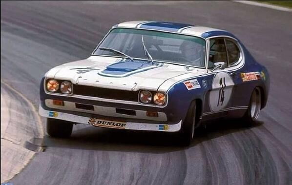 The sliding Ford Capri 2600 RS of Jochen Mass and Gérard Larrousse