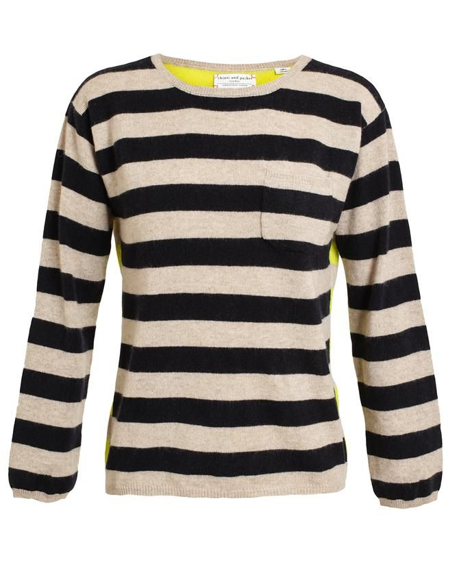 CHINTI AND PARKER | Contrasting Striped Cashmere Jumper at http://www.stockholmmarket.com