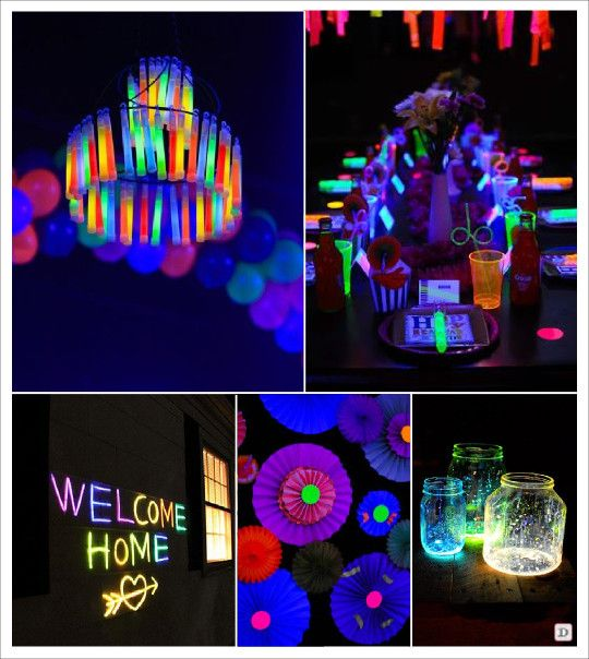 les 25 meilleures id es de la cat gorie soir e fluo sur pinterest. Black Bedroom Furniture Sets. Home Design Ideas