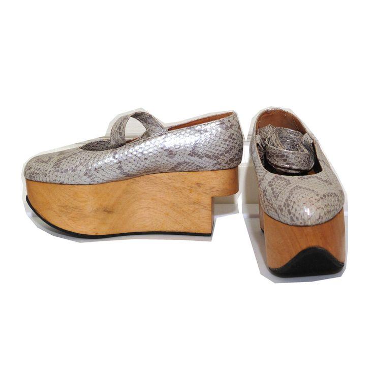 Vivienne Westwood Gold Label Rocking Horse Shoes Ballerina Python