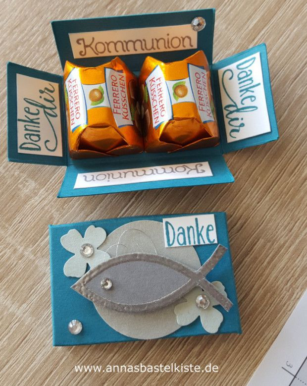 Gastgeschenk Kommunion Konfirmation Junge Stampin Up