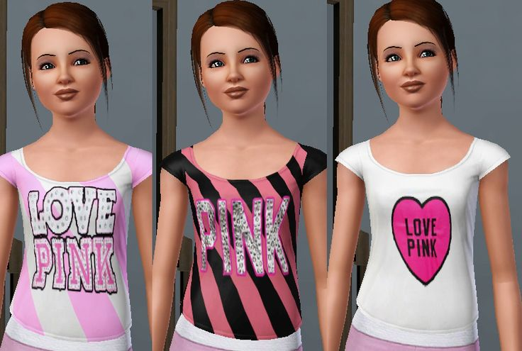 ih8m0r0nz's Love Pink Victoria Secret Shirts for Female Teens