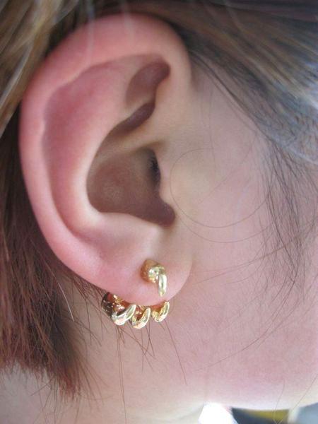 Gold Claw Stud Earrings - Sheinside.com #sheinside