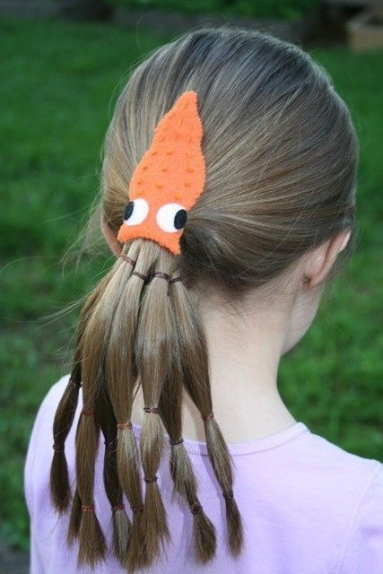 SQUID Felt Hair Clip by liven on Etsy, $7.00