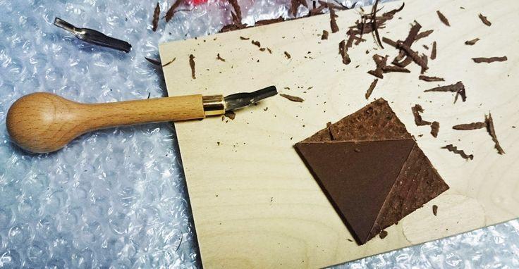 Stempel anfertigen mit Linolschnitt, DIY Stempel Linolplatte, Linoldruck