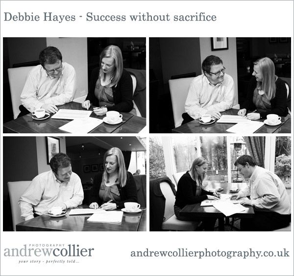 Marketing photography tells the story of your business. This photograph was taken at a 1-2-1 coaching session for www.debbiehayes.co.uk