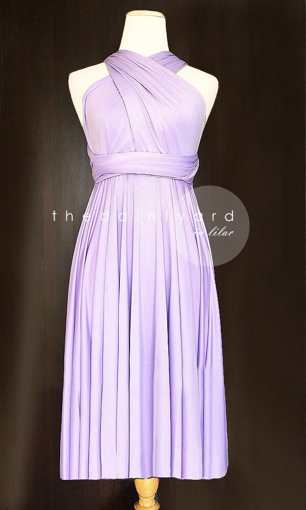 Short Straight Hem Lilac Bridesmaid Dress Convertible Dress Infinity Dress Multiway Dress Wrap Dress Wedding Dress Cocktail Dress Prom Dress by thedaintyard on Etsy https://www.etsy.com/listing/194352779/short-straight-hem-lilac-bridesmaid
