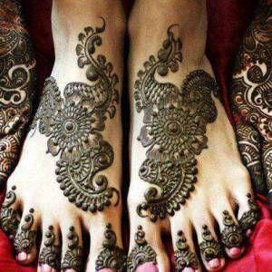 Mehandi Design for feet