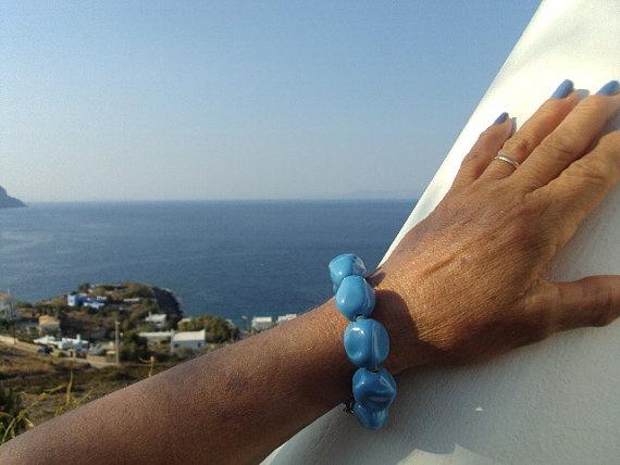 handmade ceramic bracelet.