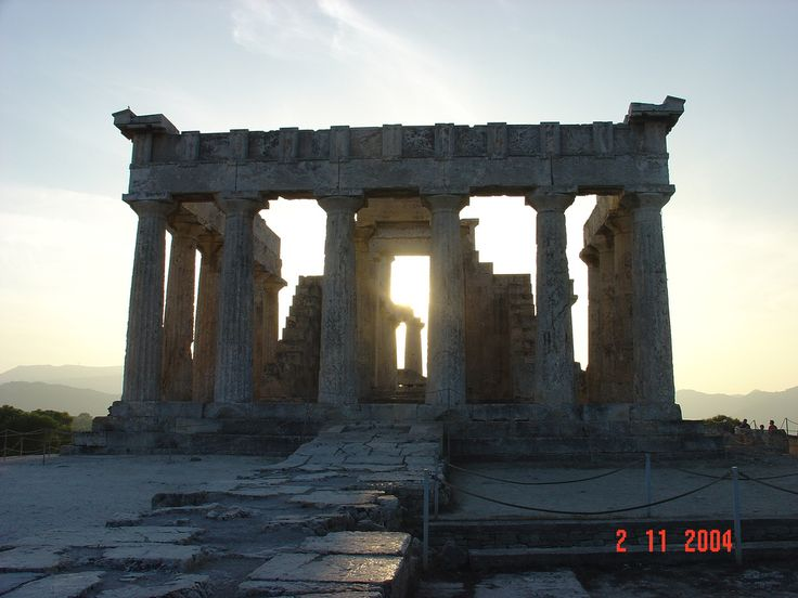 Temple of Athena Aphaia, Aegina Island Best Sunset ‪#‎Bestofgreece‬