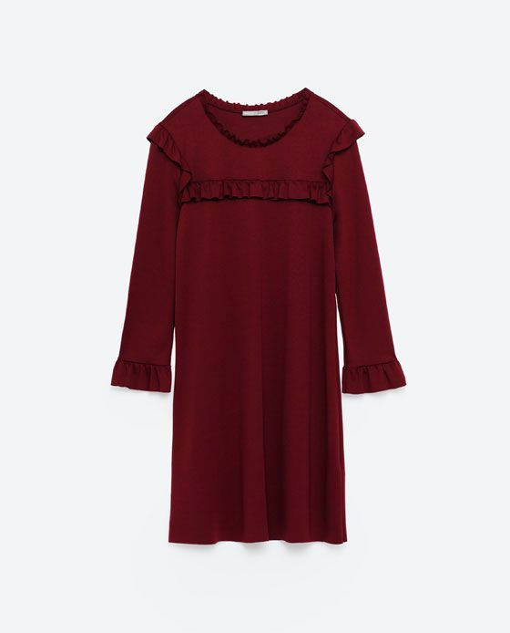 Image 8 of A-LINE DRESS WITH FRILLS from Zara
