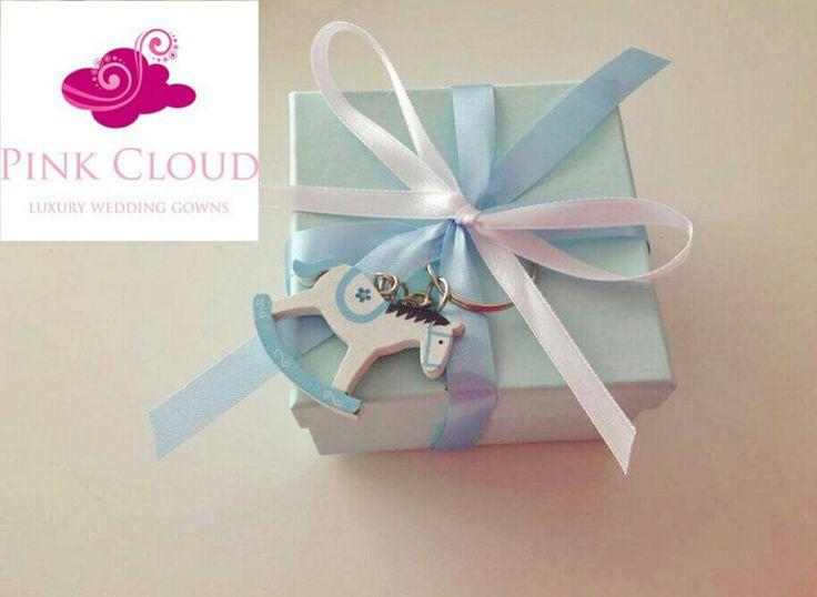 #horse#pinkcloud#blue#christening#boy