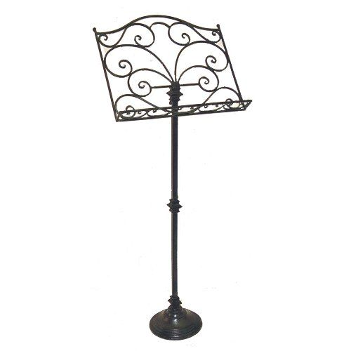 tuscan scrolling wrought iron decorative music stand cheap chic decor. Black Bedroom Furniture Sets. Home Design Ideas