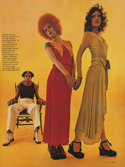 Look Magazine April 1971 stephen burrows dresses, menswear
