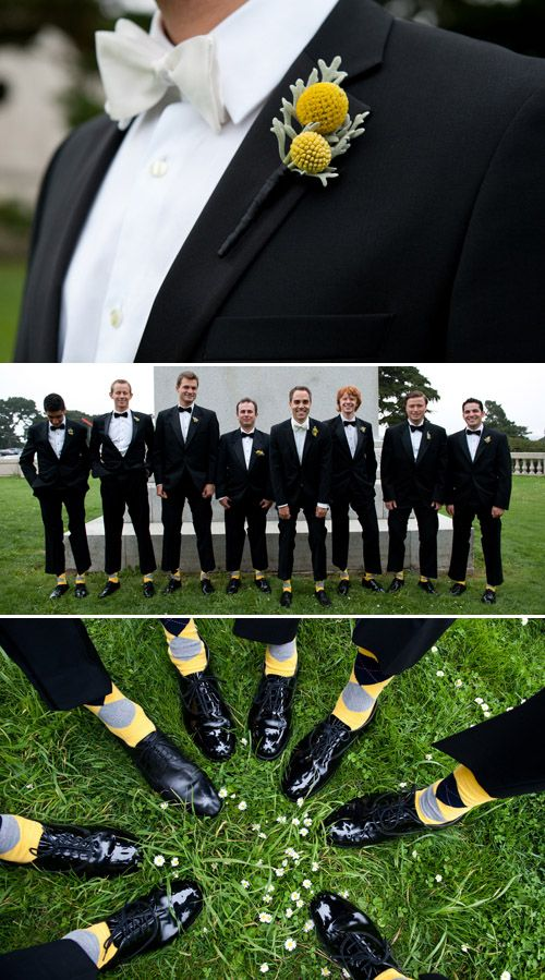 Fashionable groomsmen in Black Tie Tuxedos and stylish groom in Hugo Boss suit, photography by Tia & Claire Studio