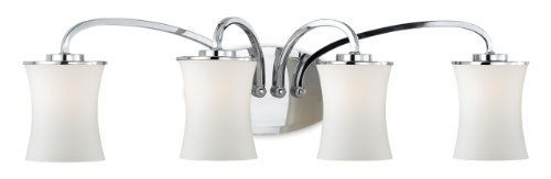 Eurofase 19407-012 Dorado 4-Light Bath Bar, Chrome by Eurofase. $134.00. From the Manufacturer                Curvaceously cut shades are audaciously pointed downwards in a display of omniscient illumination. The slender arc of the smooth onyx arms demonstrates the fluid structure of the design, making Dorado a classic representation of the artistic mastery Eurofase is known for. Although style and design are central to the company's philosophy Eurofase goes to great leng...