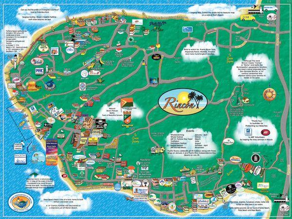 rincon, puerto rico, tourism map