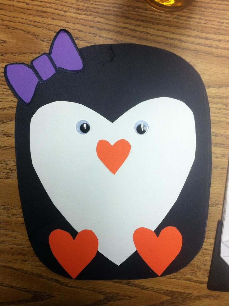 Penguin craft...for Penguin day in April