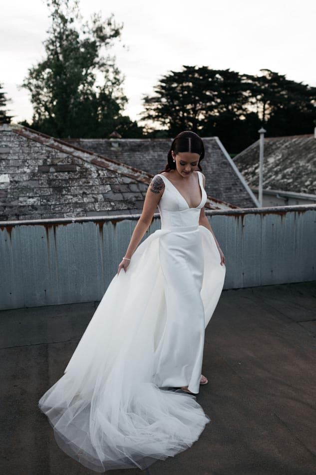 Christina Toni A Luxe Modern Yarra Valley Wedding Dancing With Her In 2020 Timeless Wedding Dress Boho Chic Wedding Dress Wedding Dress Inspiration