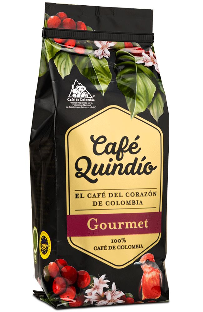 Café Quindío Gourmet - Roasted Coffee (500g, 2.5 Kg) and Roasted Coffee Beans (80g, 250g)